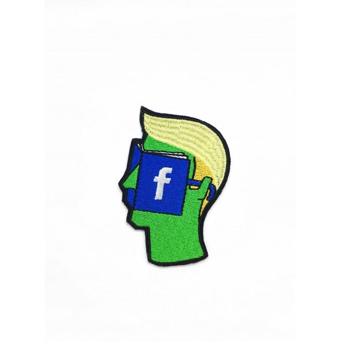 "Green Facebook Face ""9 х 6 cm"""